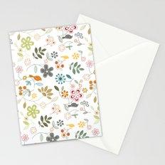 birds n flowers V1 Stationery Cards