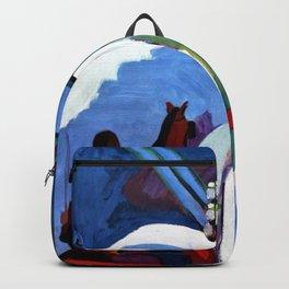 The Sleigh Ride - Ernst Ludwig Kirchner Backpack