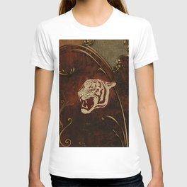 Wonderful  tiger head, golden colors T-shirt