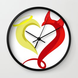 Love Angel Demon Christian And Religious Gift Wall Clock
