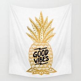 Good Vibes Ananas Wall Tapestry