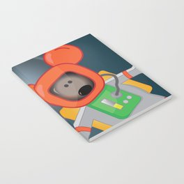 Space Mouse floating in space Notebook