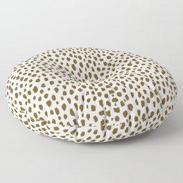 Brown Dalmatian Spots (brown/white) Floor Pillow