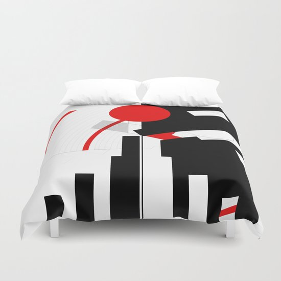 black and white meets red Version 16 Duvet Cover