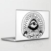 illuminati Laptop & iPad Skins featuring illuminati logo by Novus.
