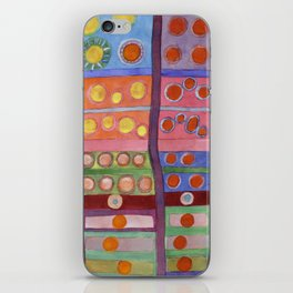 Colorful Grid Pattern with Numerous Circles iPhone Skin