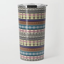 Modern Native Navajo Ethnic Tribal Pattern V.02 Travel Mug