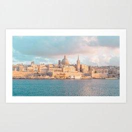 Valletta Sunset Art Print