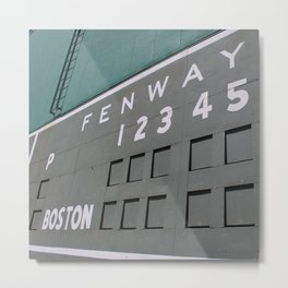 Fenwall -- Boston Fenway Park Wall, Green Monster, Red Sox Metal Print