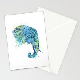 Elephant Head II Stationery Cards