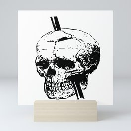 Skull of Phineas Gage With Tamping Iron Mini Art Print
