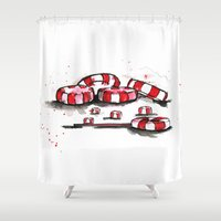 candy Shower Curtains featuring Candy!! by Rashmi Dagwar
