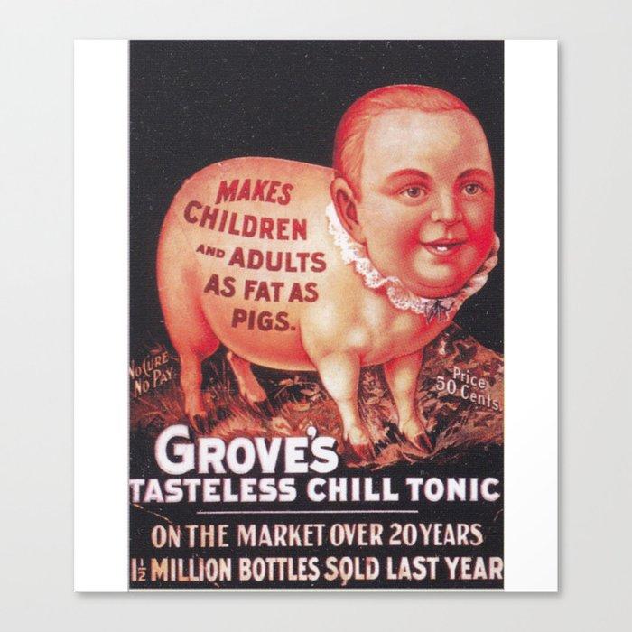 Grove's Tasteless Tonic Canvas Print by timpangburn (CNV9453837) photo