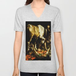 Conversion of Saint Paul on the Road to Damascus - Caravaggio Unisex V-Neck