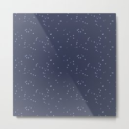 Dark Gray Blue Shambolic Bubbles Metal Print