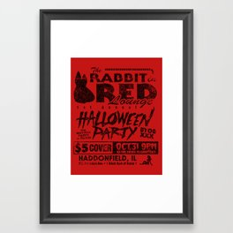 Rabbit In Red Framed Art Print