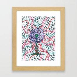 Hot air to cool Framed Art Print