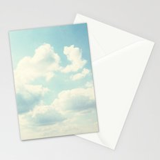 White Fluffy Clouds Stationery Cards