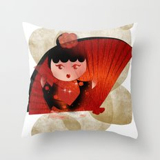 Papas y flamenco Throw Pillow