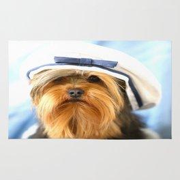 Little Sailor Yorkshireterrier With Sailor Hat #decor #society6 Rug