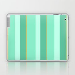 Mint Stripe Pattern Laptop & iPad Skin