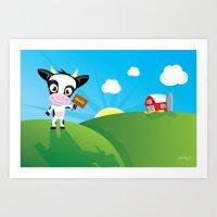 CowMoo Art Print