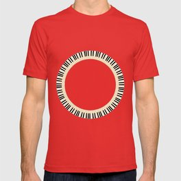 Pianom Keys Circle T-shirt