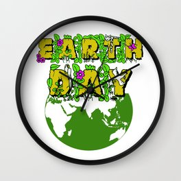Earth Day 22 April Save the planet Wall Clock