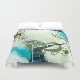 Everglades - Square Abstract Expressionism Duvet Cover