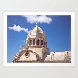 St. Peter's Cathedral, Šibenik, Croatia Art Print