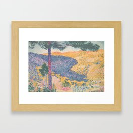Valley with Fir (Shade on the Mountain) by Henri-Edmond Cross1909, French Framed Art Print