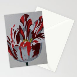 Red & White Tulip Stationery Cards