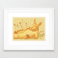 kangaroo Framed Art Prints featuring Kangaroo by - OP -