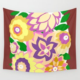 CAMBRIA, ART DECO FLORALS: BOHO SUMMER Wall Tapestry