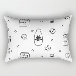 Doodle milk star cookies pattern Rectangular Pillow
