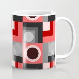 Pink and Grey Geometical Coffee Mug