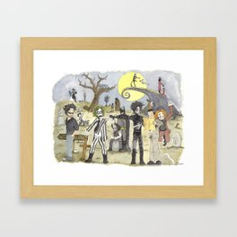 Le petit monde de Tim Burton / Tim Burton's little world Framed Art Print