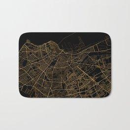 Casablanca map, Morocco Bath Mat