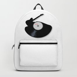 Rock Music Silhouette Record Backpack