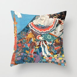 Sixty-nine Stations of the Kisokaidô Road Throw Pillow