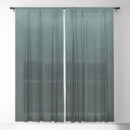 Ombre Emerald Sheer Curtain
