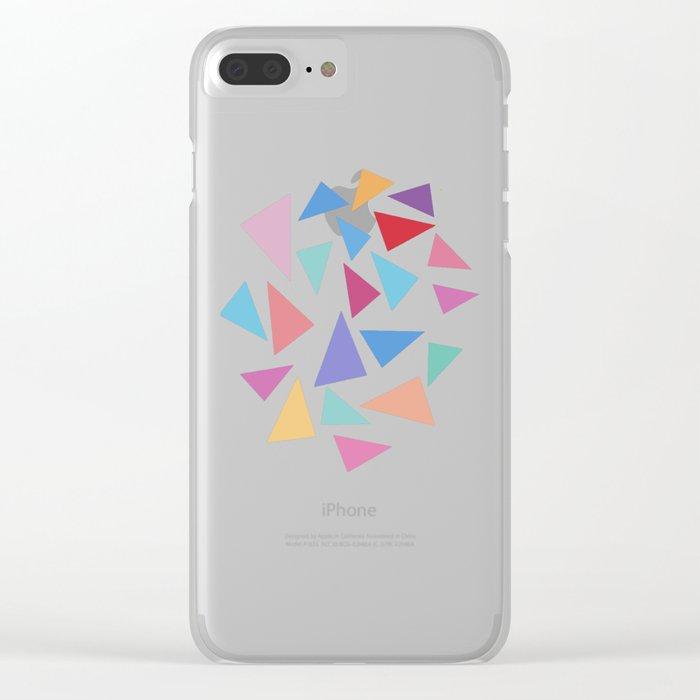 Colorful geometric pattern II Clear iPhone Case