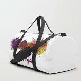 Las Vegas skyline in watercolor Duffle Bag