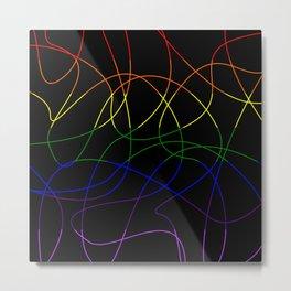 Abstract Threads – LGBTQ Pride Flag Metal Print