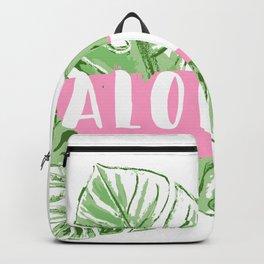 Aloha monstera leaves Backpack