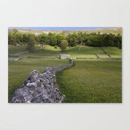 Meadows at Kettlewell, Yorkshire Dales, England Canvas Print