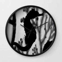 Seahorse Silhouette Wall Clock