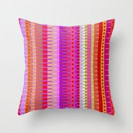 Color Stripes 1 Throw Pillow