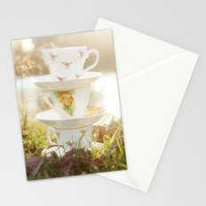 Three little teacups Stationery Cards
