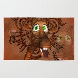 Funny, cute giraffe Rug